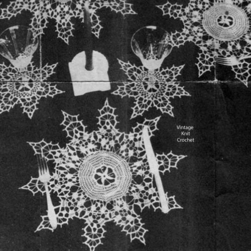 Centerpiece Snowflake Crochet Doily Pattern