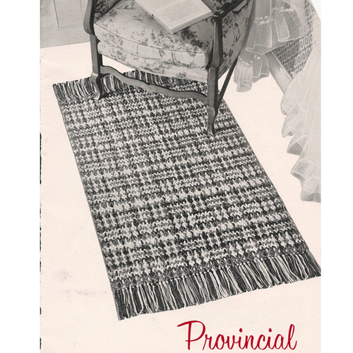 Easy Crochet Rug Pattern with Woven Stripes