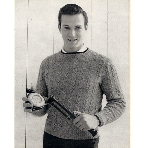 Mans Knitted Cable Pullover Pattern