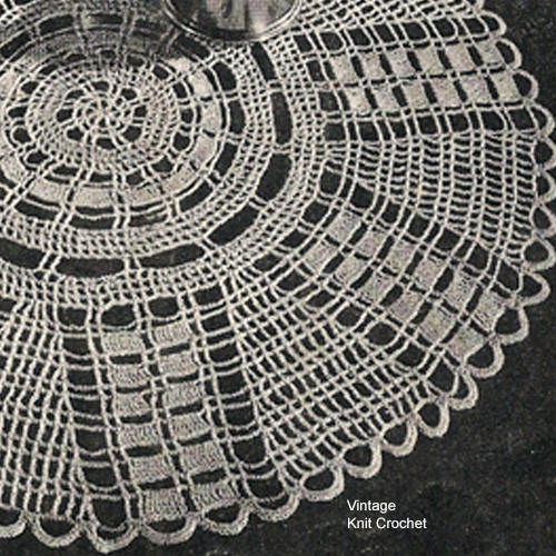 Vintage Wheel Doily Knitting Pattern