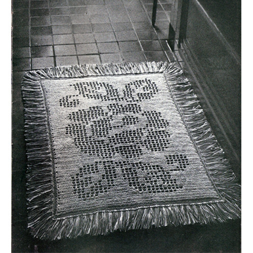 Reversible Rose Rug Crochet Pattern