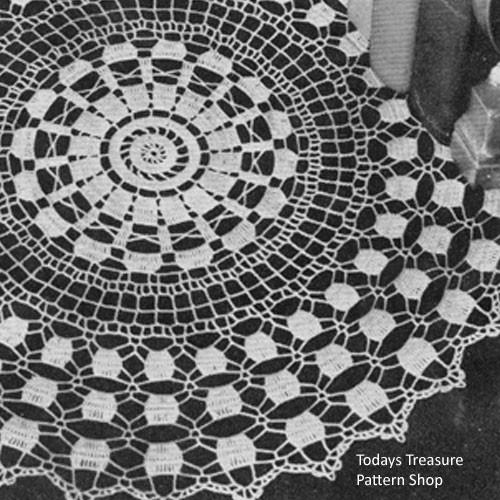 Crochet Prelude Doily Pattern No 7256