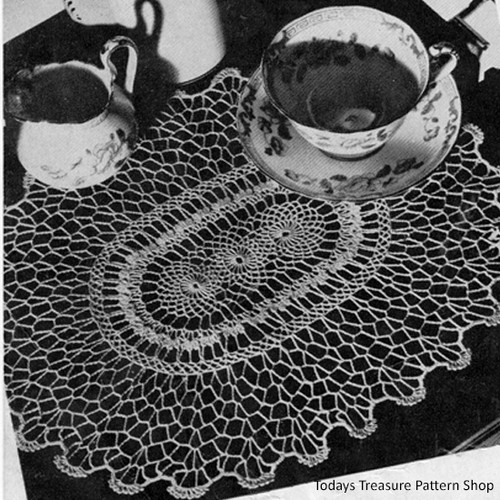 Crochet Medallion Spiderweb Lace Doily Pattern