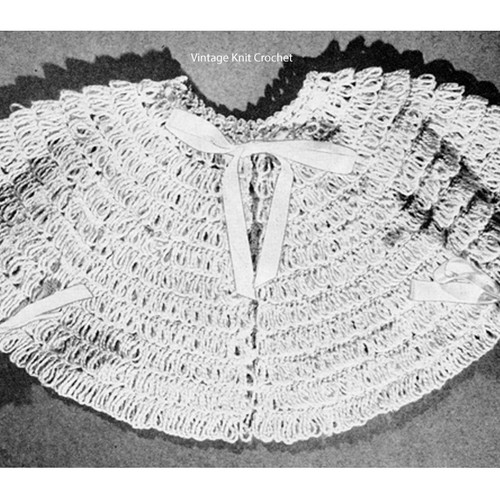 Vintage Baby Crochet Nap Sacque, Free Pattern