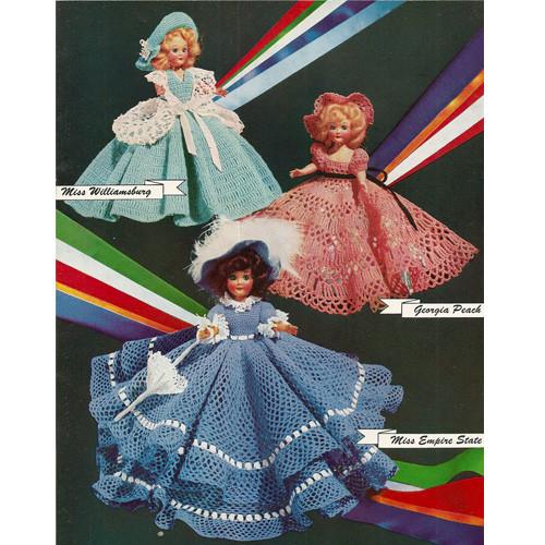 Crochet Southern Belle Doll Dress Patterns