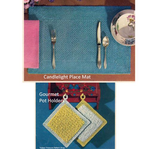 Beginners Placemat Potholders Crochet Pattern