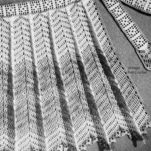 Vintage Crochet Lace Apron Pattern