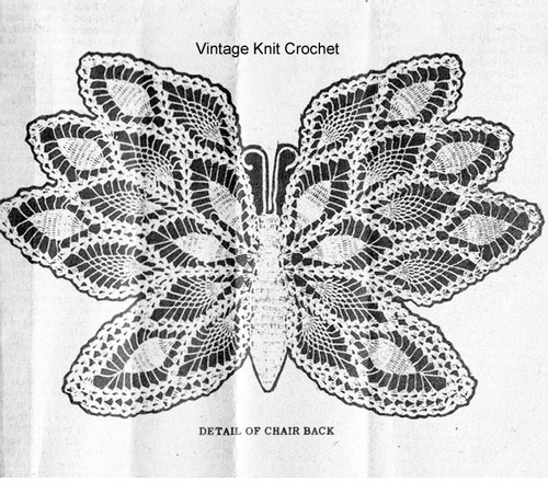 Crochet butterfly pattern illustration, Mail Order 837