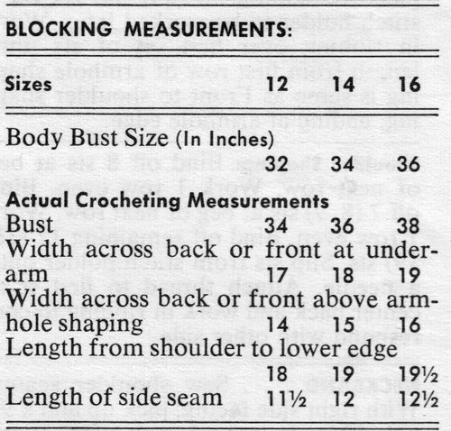Blocking Measurements for Knitted Shell