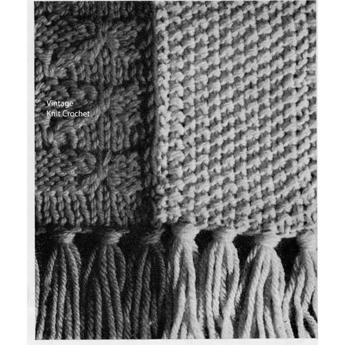 Persian Stripe Afghan Knitting Detail