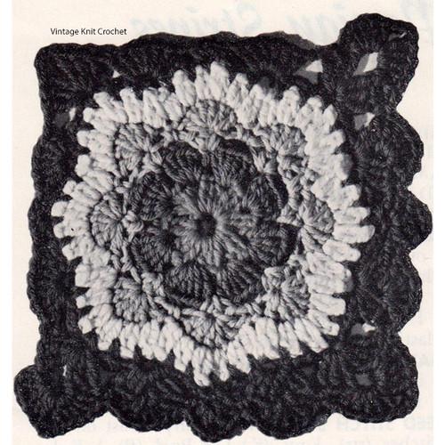 Nasturtium Crochet Block for Afghan
