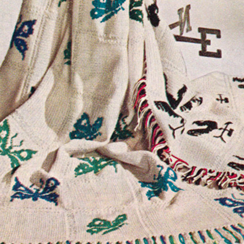 Vintage Butterfly Afghan Knitting Pattern