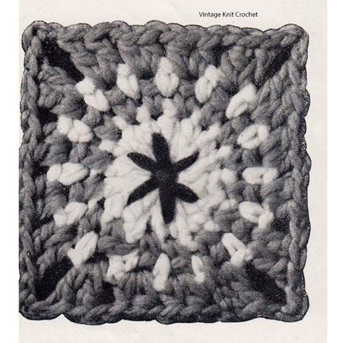 Crocheted Afghan Square Block