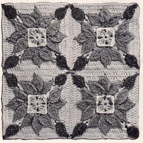 Crocheted Sunflower Blocks Illustration