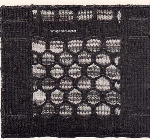 Knit Illustration of Northern Lights Block