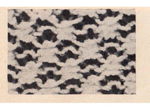 Evening Blouse Knitted Pattern Stitch Illustration