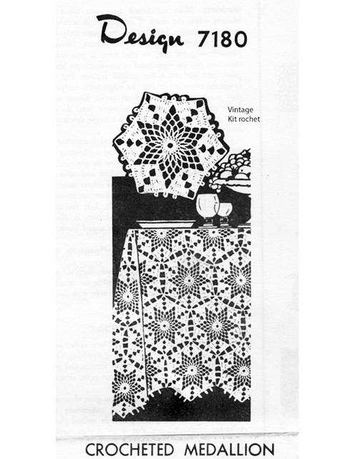 Star Tablecloth Crochet Pattern, Alice Brooks 7180
