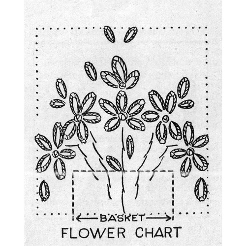 Flower Embroidery Chart