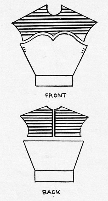 Diagram for Tulle Knitted Blouse Pattern