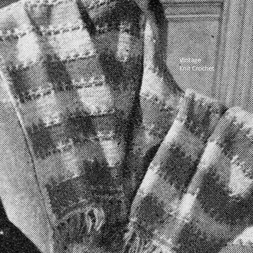 Fleur di Leis Free Knitted Afghan Pattern