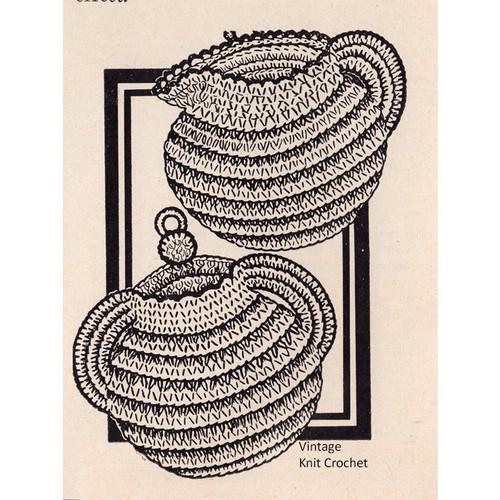 Vintage Crocheted Sugar Bowl Creamer Pattern