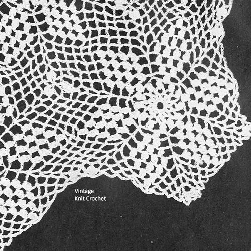 Crochet Star Tablecloth Pattern Illustration