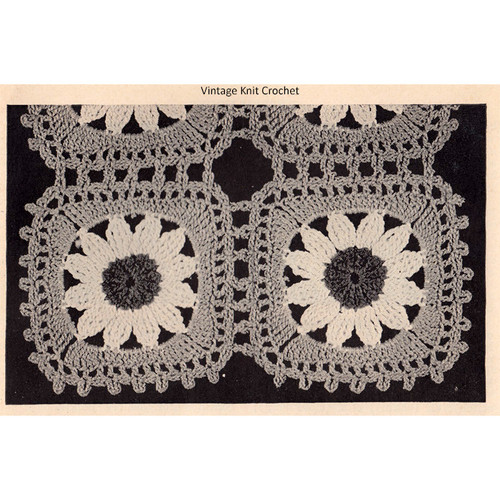 Vintage Crocheted Daisy Medallions for Runners Scarfs