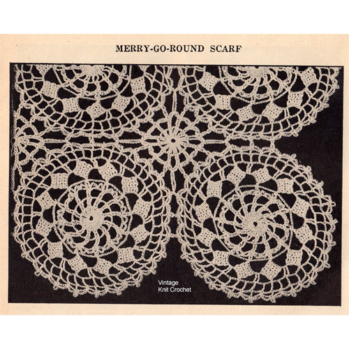 Vintage Merry Go Round Medallion Crochet Pattern