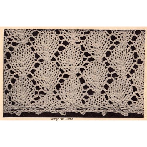 Knitted Leaf Motif Detail