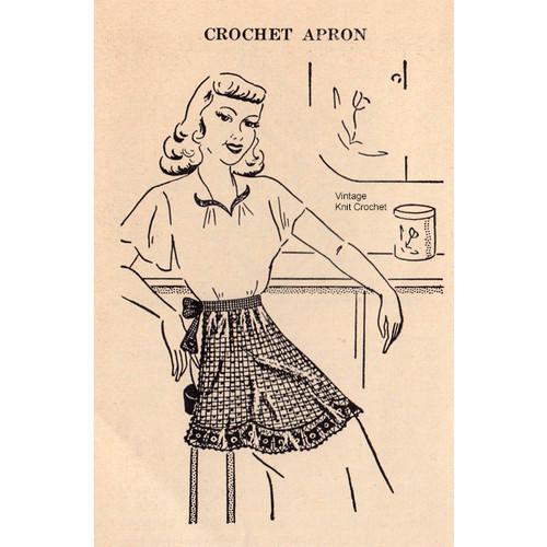 Vintage Crochet Mesh Apron Pattern