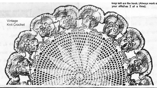 Pansy Bordered Doily Pattern Anne Cabot 5711