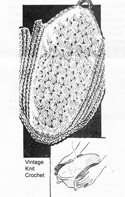Vintage Crochet Corn Potholder Pattern No 5731