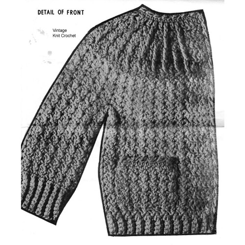 Girls Yoked Jacket Crochet Pattern No 7579