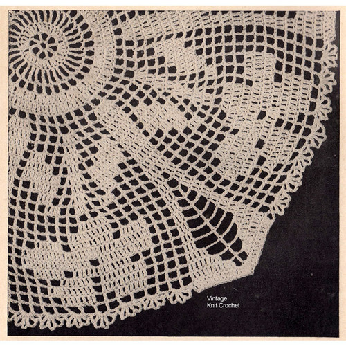 Crocheted Wild Iris Doily Pattern, Vintage 1948 from Workbasket