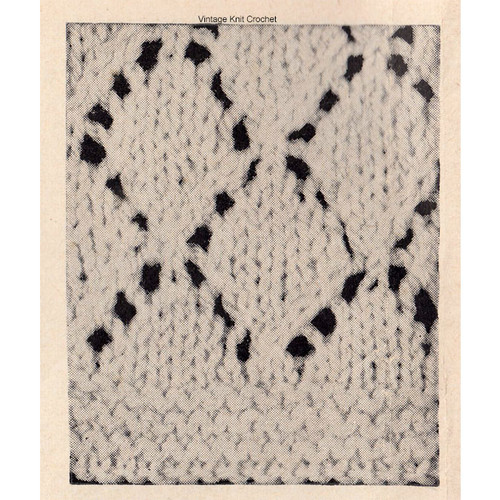 Knitted Pattern Stitch for Baby Sweater