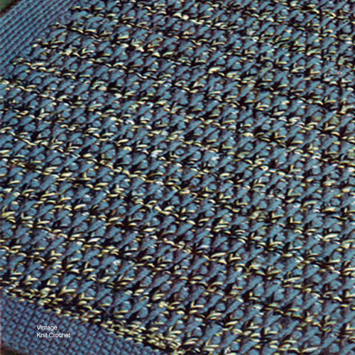 Vintage Tweed Crocheted Rug Pattern, Cape Cod