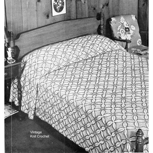Vintage Four Leaf Clover Crochet Bedspread Pattern