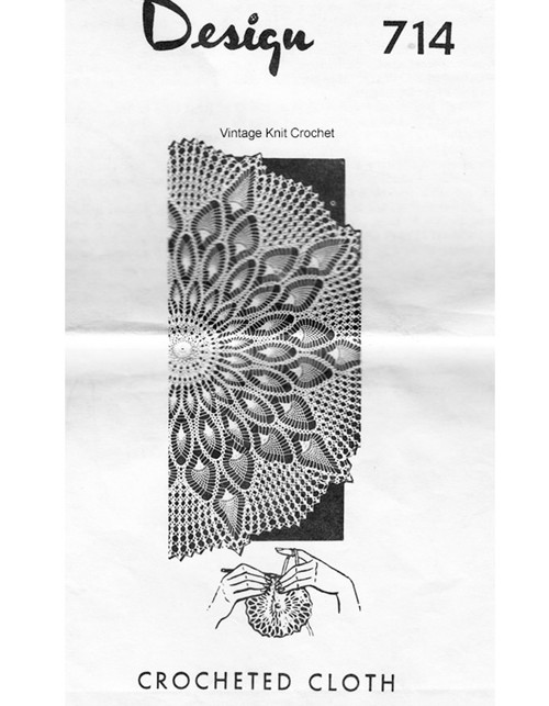 Pineapple Cloth Crochet Pattern, Mail Order Design 714