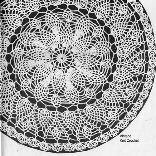 Strawberry Crocheted Doily Pattern No 989