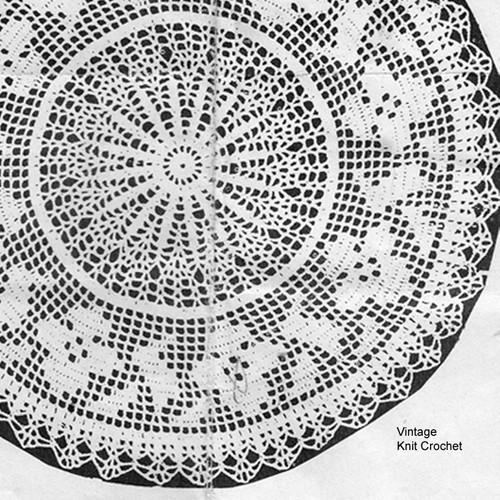 Filet Crocheted Wild Rose Doily Pattern, Mail Order 1258