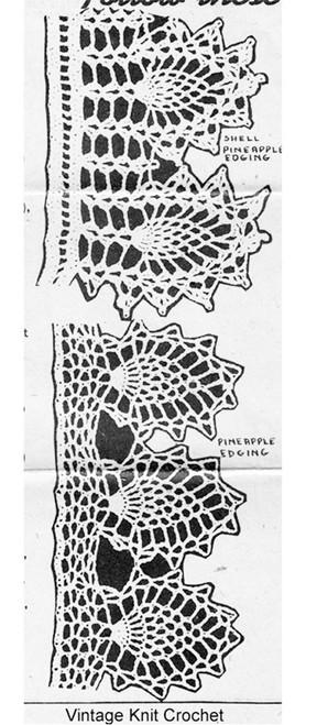 Pineapple Edging Crochet Illustration Design 5508
