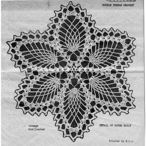 Medium Pineapple Doily Crochet Illustration