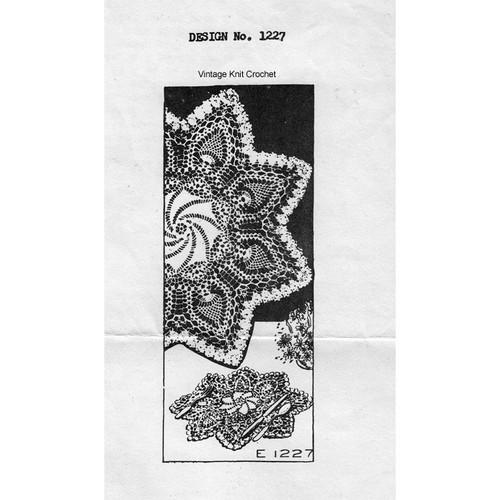 Mail Order 1227 Pineapple Pinwheel Doily