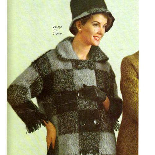 Bernat Mohair Coat Knitting Pattern  Style 1778-118