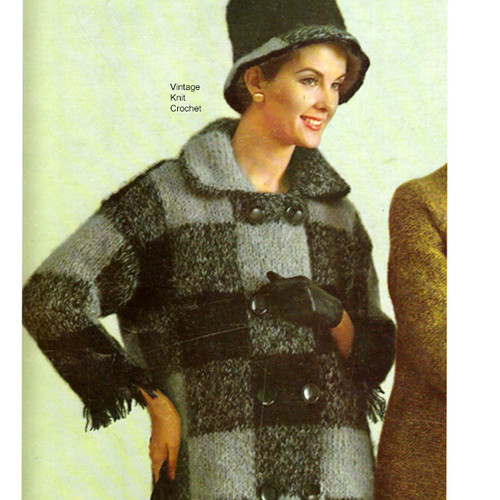 Bernat Mohair Coat Knitting Pattern  Style 1778-118