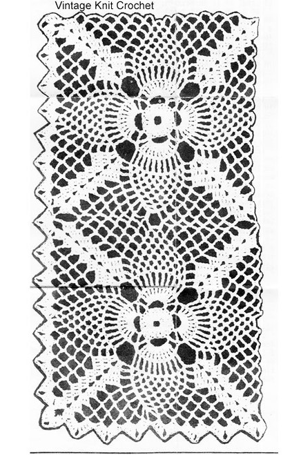 Pineapple Square Crochet Pattern Illustration No 5708