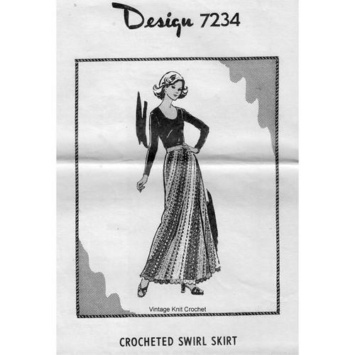 Alice Brooks 7234, Crocheted Long Skirt