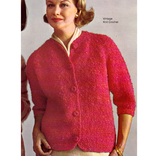 Easy Nubby Knit Cardigan Pattern