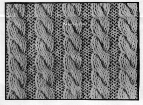 Cable Jacket Knitting Illustration