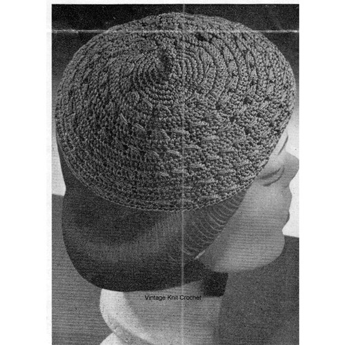 Easy Crochet Beanie Pattern in Nylon Thread